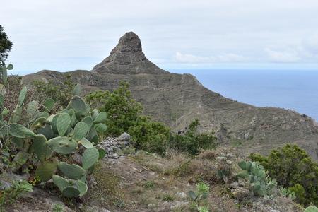 Big Mountain? Matterhorn of Tenerife? at the Mirador Fuente de Lomo at Taborno in the north of Tenerife, Europe Standard-Bild