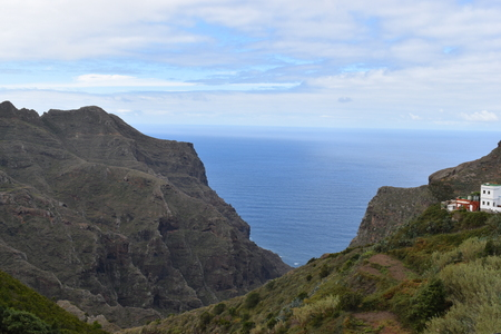 View over the beautiful village of Taborno at the Mirador Fuente of Lomo in the north of Tenerife, Europe