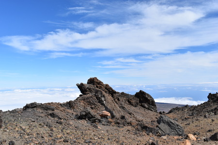 Hiking trail to the big famous volcano Pico del Teide in Tenerife, Europe 版權商用圖片