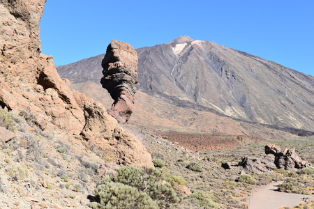 Famous Roques de Garcia at the Teide Volcano Mountain in Tenerife, Europe