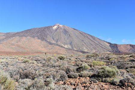 Famous Teide Volcano Mountain in Tenerife, Europe Stock Photo