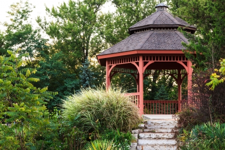 Secluded garden gazebo in Portage, Wisconsin