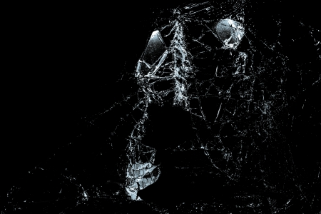 Close up of broken glass on a black background Stock Photo - 16267367
