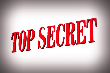 Red Top Secret sign on white background Stock Photo