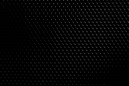 Pattern of white dots and lines on black background  Metal grill effect  Stock Photo
