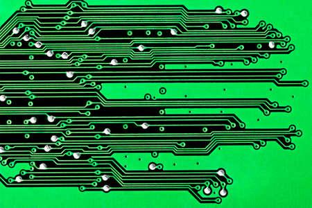 Close-up van een groene printplaat achtergrond Stockfoto