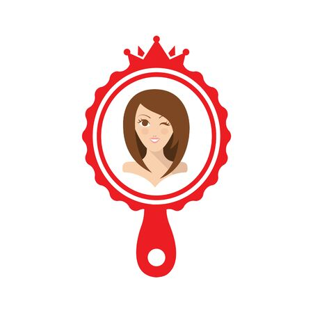 perls: Pretty girl in the red mirror