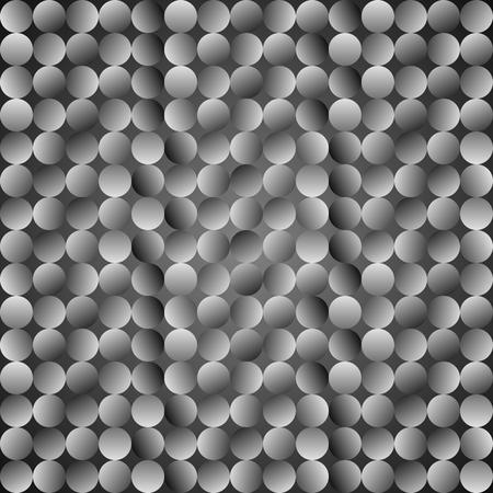 arsenic: Polka dot pattern. Vector seamless grey background