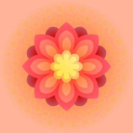 Beautiful colorful flower. Vector illustration. Illustration
