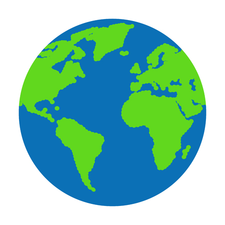 exploring: Flat planet earth icon. Vector illustration for web banner, web and mobile, infographics. Illustration