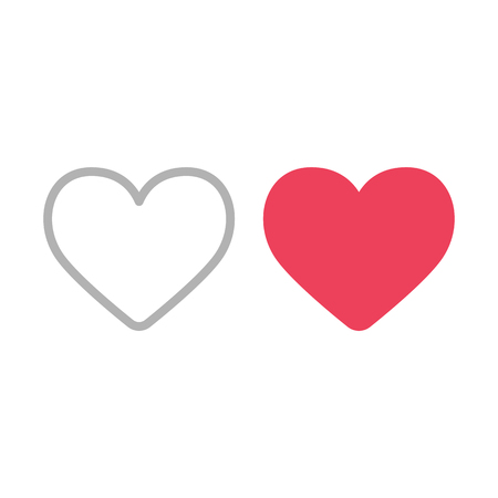 rounded circular: Heart icons. Filled and outline like symbols