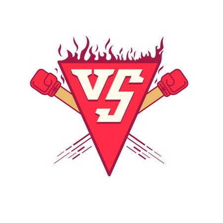 VS logo symbol illustration. Иллюстрация