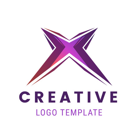 Letter X logo icon design template. Creative logo template vector illustration