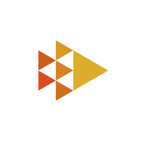 Connected Triangles minimal geometry logo design. Vector illustration of symbol for branding or identity Illustration