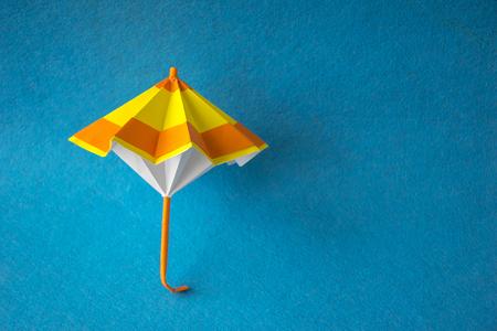 Yellow and orange handicraft paper umbrella