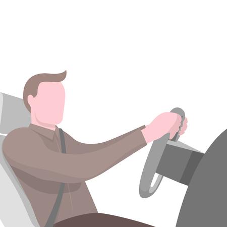 車の車輪に座っている男とポスター