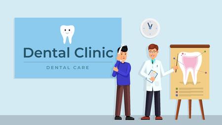Dentsist consultating patient
