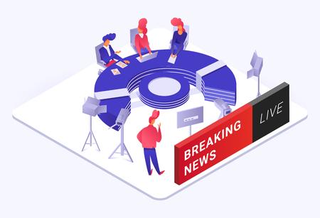 Breaking news illustration Illustration