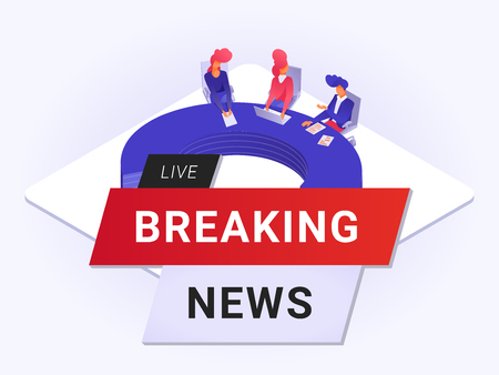 Live breaking news flat poster