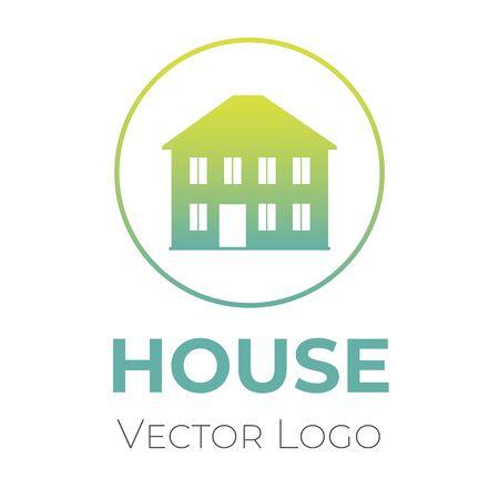 House logo vector design template. Home selling company interior design, construction company symbol.