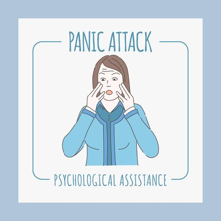 Panic attack banner design template. Psychology counseling, and mental therapy design.