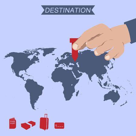 destination: destination pin on world map