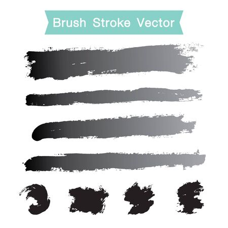 brush stroke: Vector set of grunge brush stroke Illustration