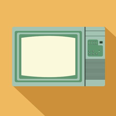 vintage television: vintage television, vector Illustration