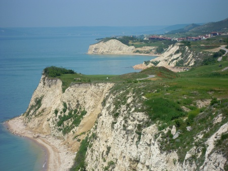 balchik: Bulgarian Black Sea Coast - White Rocks at the Balchik city