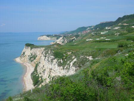 balchik: Bulgarian Black Sea Coast - White Rocks at the Balchik city