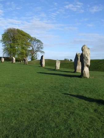 wiltshire: Prehistoric stone in the wiltshire countryside Stock Photo