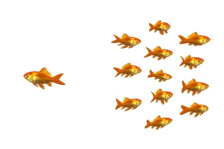 A goldfish going off with his own ideas Stock Photo - 2463621