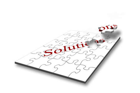Design concept for problem solving with jigsaw pieces