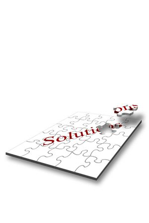 Design concept for problem solving with jigsaw pieces in landscape Stock Photo - 2548512