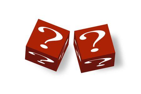 quandary: 3D cubes representing a difficult problem or decision