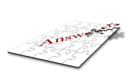 Design concept for problem solving with jigsaw pieces Stock Photo - 2634005
