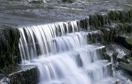 Slow shutter speed picture of a country river waterfall Stock Photo - 3194392