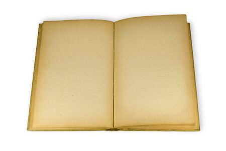 An open old book with blank pages Stock Photo - 4234692
