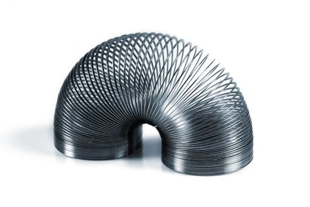 springy: Metal slinky creating a symmetrical pattern