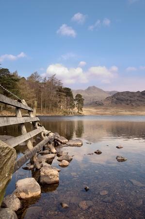 The beautiful Blea Tarn in the lake district, cumbria, england.