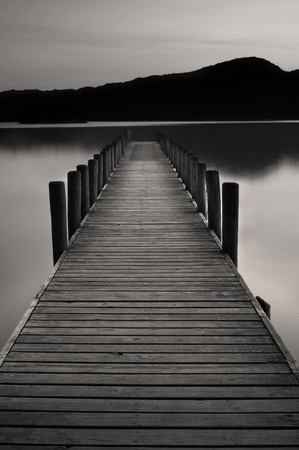 The famous jetty at coniston water, Cumbria, England