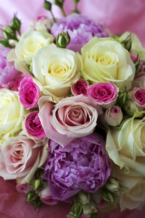 flowers bouquet: Beautiful bouquet of flowers ready for the big wedding ceremony Stock Photo