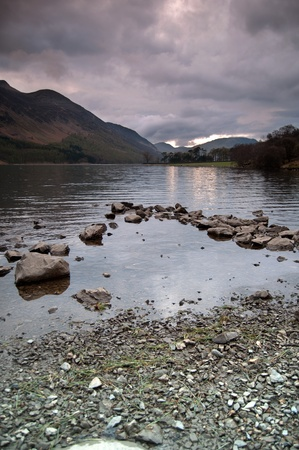 The beautiful Lake Buttermere in the lake district, cumbria, england.