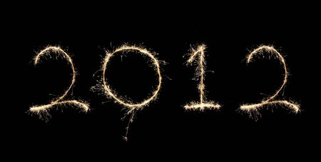 2012 new year created from a sparkler Stock Photo - 11505575