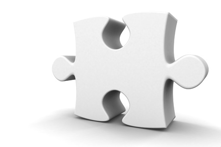 3d rendered isolated puzzle piece standing tall Stock Photo - 13200322
