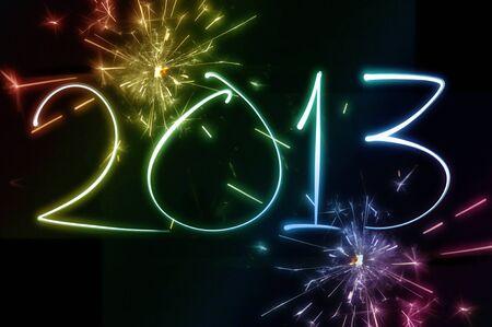 2013 New year Stock Photo