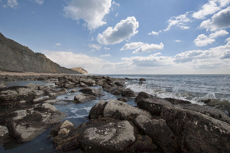 The beautiful coastline of Charmouth in Dorset, England
