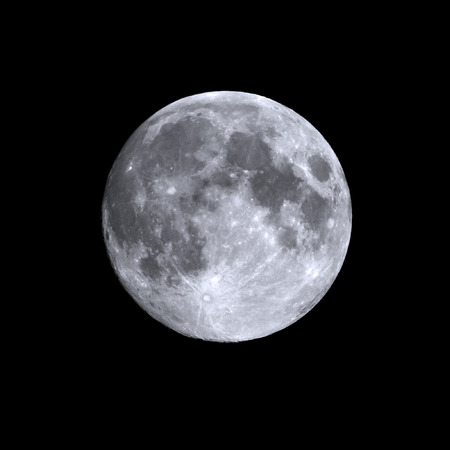 Isolated shot of a summers full moon Standard-Bild