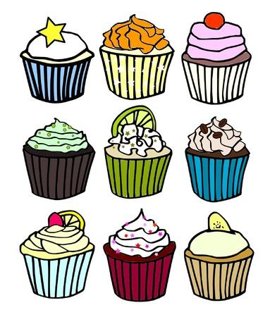 vanilla cupcake: nine cupcake flavors