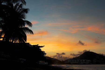 living moment: Carpe diem  Rise with the sun  Tropical sunrise landscape silhouette
